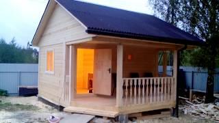 Видеоотчет строительства бани 5x5 - СК Наши Дома и Бани (24.11.2017)