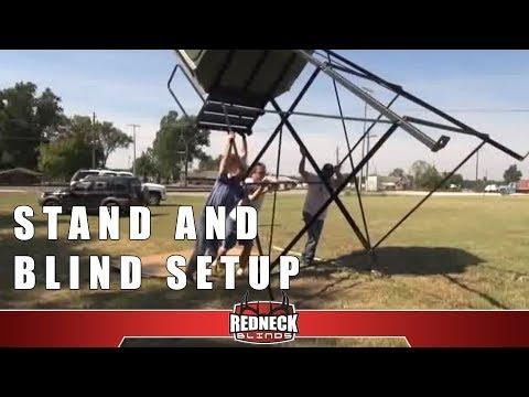 Redneck Blind Setup Redneck Stand Setup Youtube