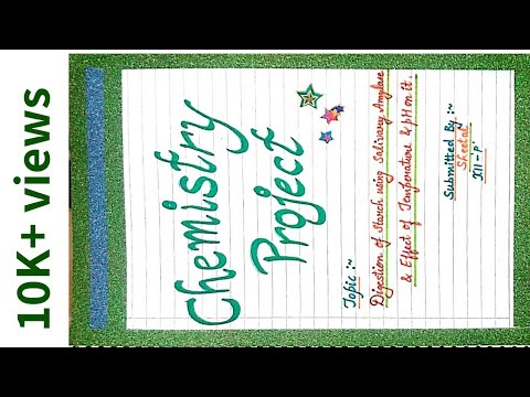 Class 12th Chemistry investigatory project|| by Creative World