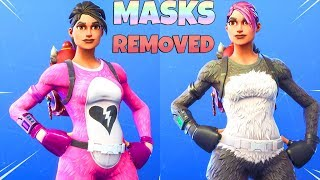 SKINS with MASKS REMOVED!! (Custom Skins Pt.1) Fortnite Battle Royale