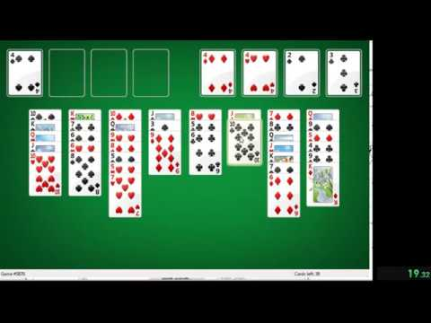 Windows FreeCell Any% In 0:31