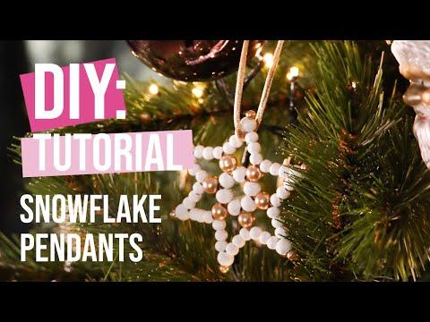 DIY Tutorial: Snowflake pendants