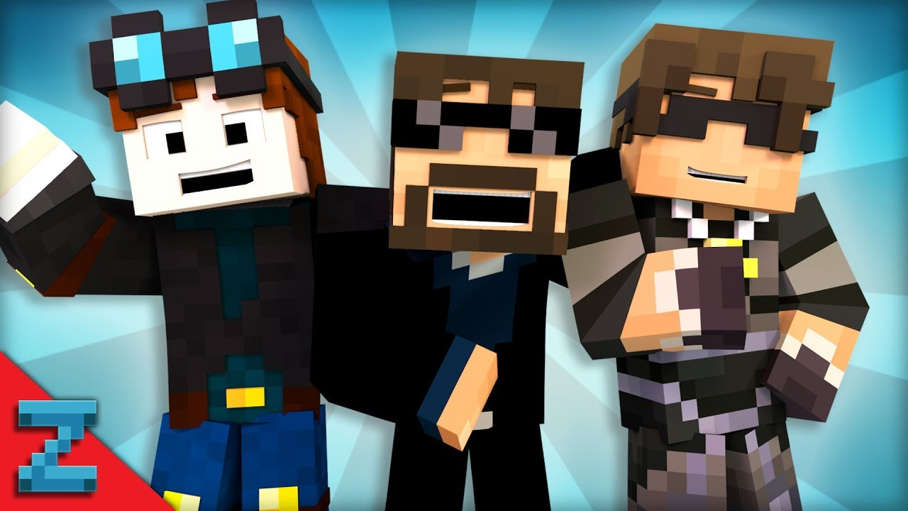 Best Of Youtubers Animated Zamination Minecraft A Doovi