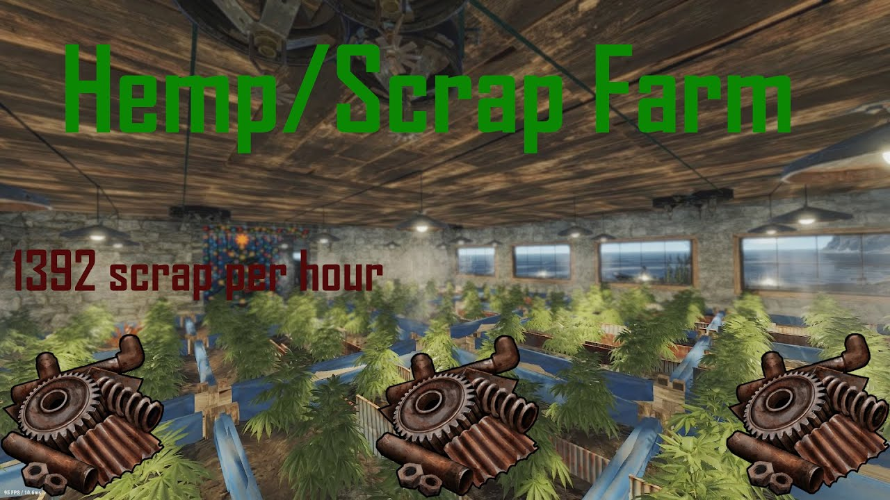Rust Full Hemp Scrap Farm Guide Youtube