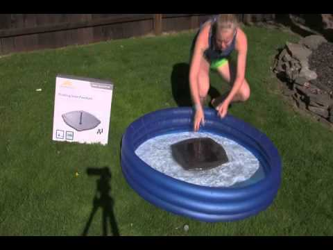 Floating Solar Water Fountain Kit Youtube