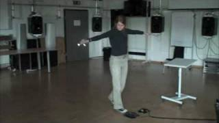 Example of gesture performed while listening to a sound of a wave