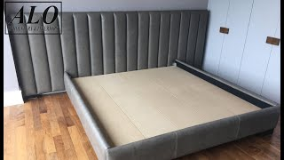 DIY - HOW TO UPHOLSTER A CHANNEL HEADBOARD - ALO Upholstery