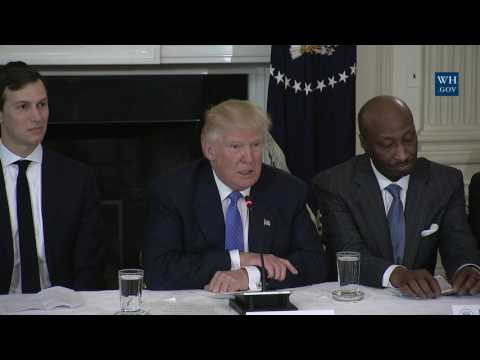 President Trump Leads a Listening Session with Manufacturing CEOs