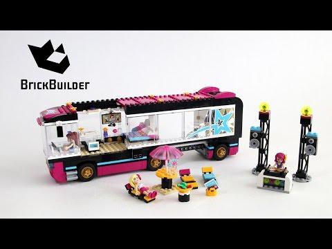 Lego Friends 41106 Pop Star Tour Bus Lego Speed Build Youtube