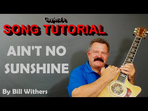 Ain't No Sunshine  Bill Withers  Guitar Lesson for beginners