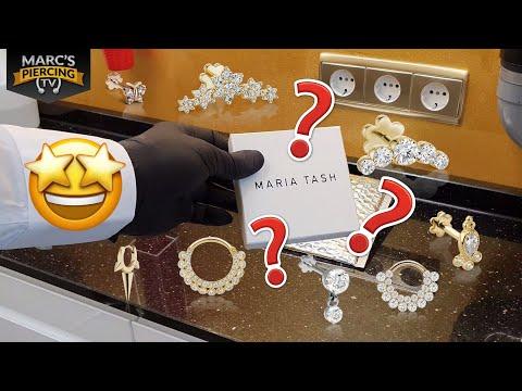 Maria TASH Piercing Schmuck Aus Echtgold Und Diamanten Bei Piercingstudio Wien 💉 Marc's Piercing TV