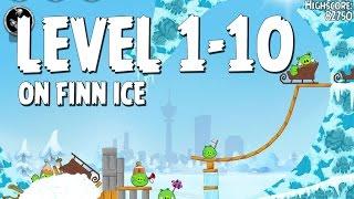 Angry Birds Seasons On Finn Ice 1-10 Walkthrough 3 Star