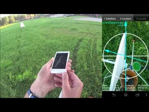 Satellite Locator with GPS locations from the phone - YouTube