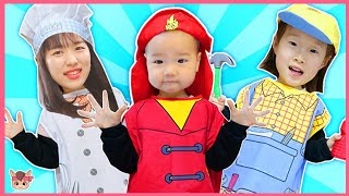 슈퍼히어로 어벤져스 하늘 도와줄게요 직업 변신놀이 구출놀이  baby pretend play Rescue Mission, video for kids with toys