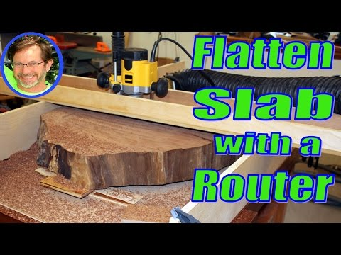 How to Flatten a Wood Slab on your Workbench with a Router