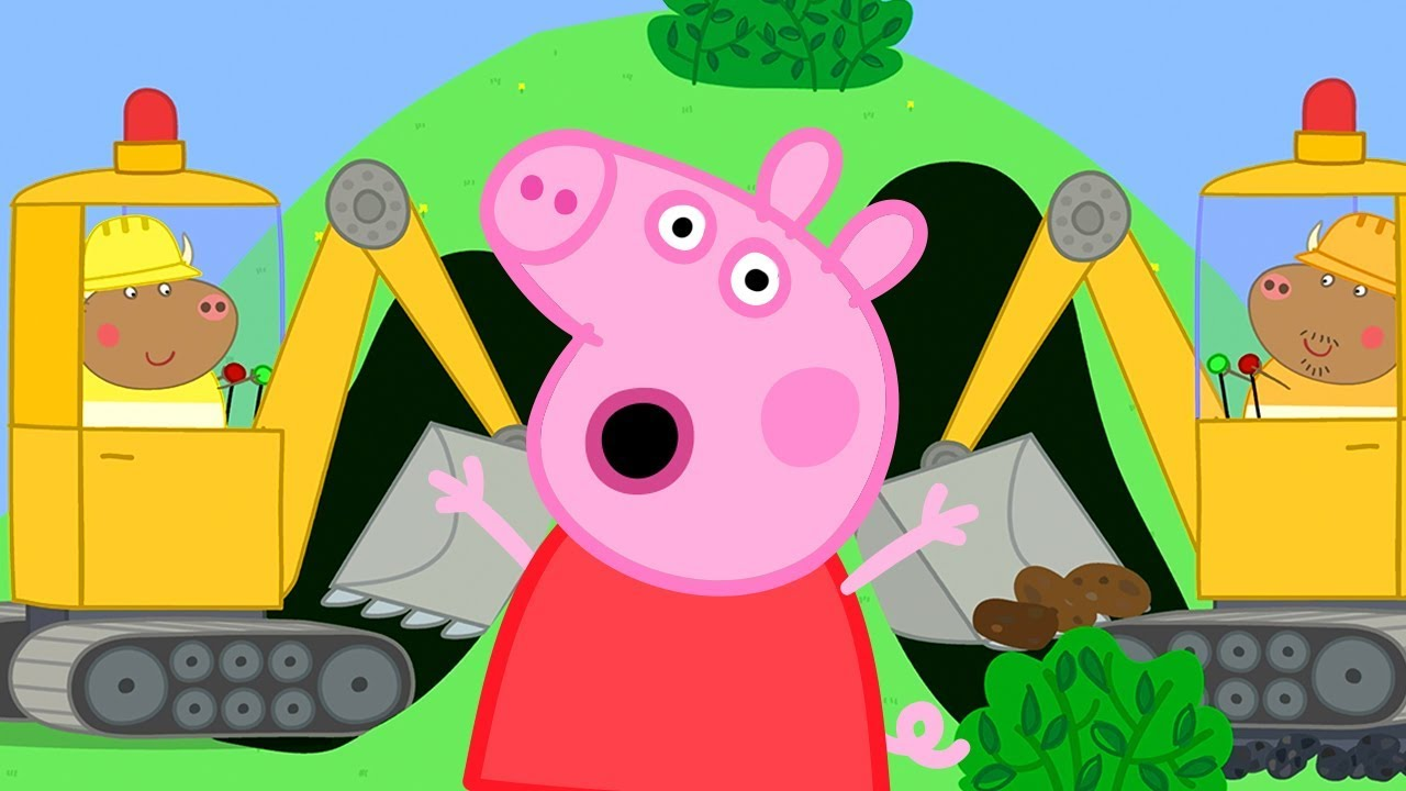 new products 724b6 418d5 Peppa Pig English Episodes | Dig a Tunnel for the New Road | Cartoons for  Kids