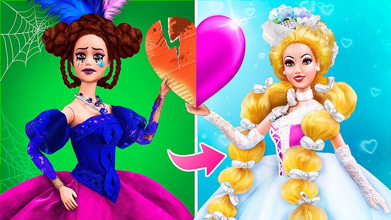 De Malvada a Buena / 12 Trucos y Manualidades Para Barbie