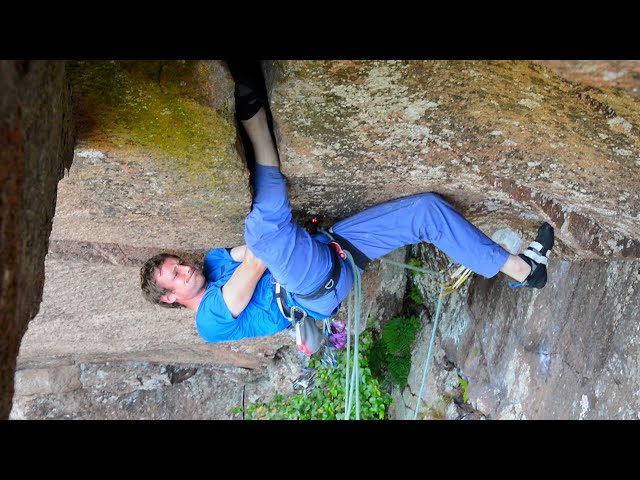 Rope Soloing Sweden's Hardest Offwidth