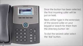 cisco IP Phone SPA504G - Transferring a Call - Video Training