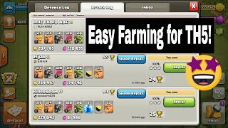 BEST Town hall 5 attacking strategy - Clash Of Clans - th5 farming strategy