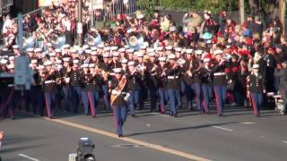 USMC West Coast Composite Band - 2014 Pasadena Rose Parade