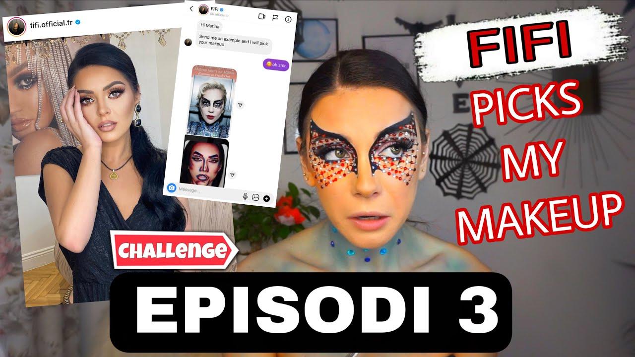 OCTOBER MAKEUP CHALLENGE   Fifi 😳 picks my makeup