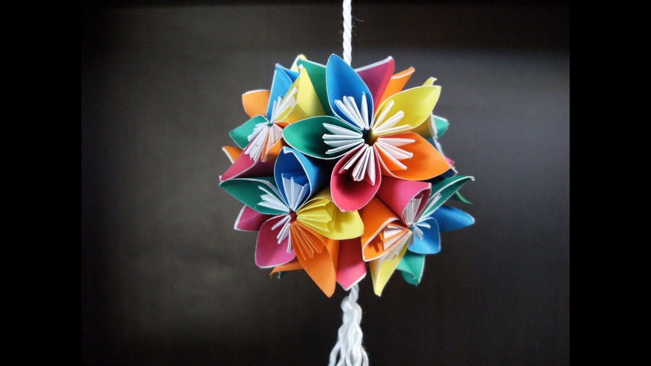 3d origami kusudama flowers how to make youtube mightylinksfo