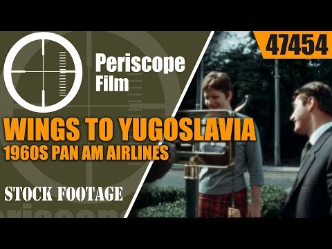 WINGS TO YUGOSLAVIA 1960s PAN AM AIRLINES TRAVELOGUE  47454