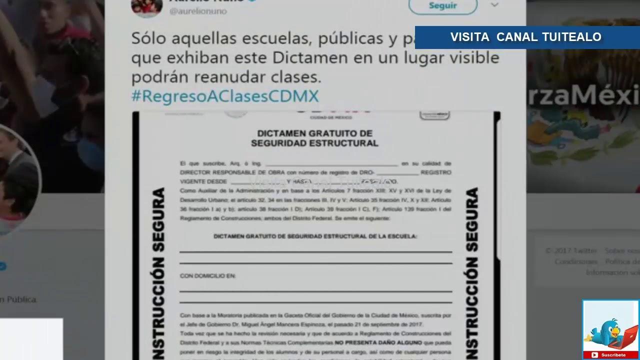 Aurelio Nuño difunde imagen del formato de dictamen de seguridad ...