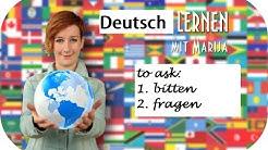 To ask | fragen | bitten | Wortschatz Deutsch A2 B1 B2