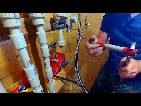 Как сделать самодельную резьбу на пластиковой трубе и муфте //40 АТМОСФЕР