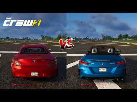 BMW Z4 M40i VS 2011 BMW Z4 DRAG RACE   The Crew 2  