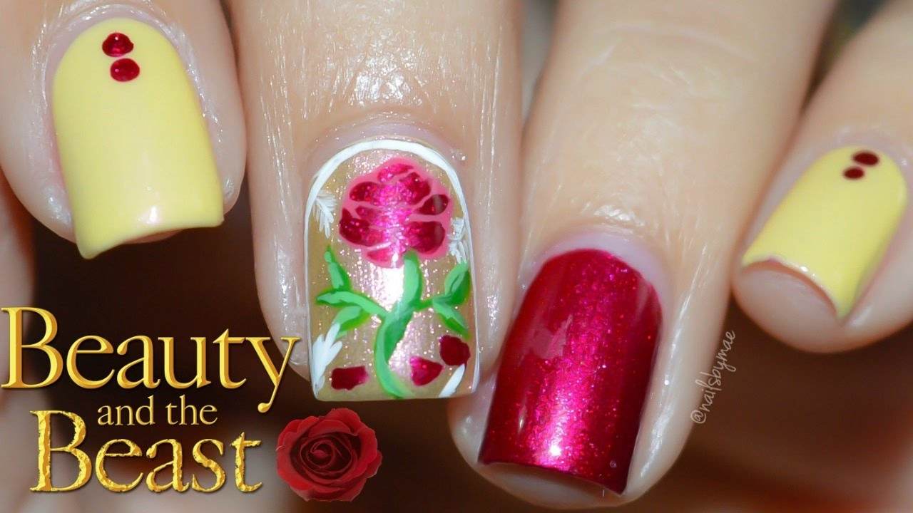 Beauty And The Beast Nail Art Tutorial Youtube