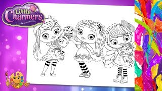 Little Charmers : Hazel, Posie, Lavender | Coloring pages for kids | Coloring book |