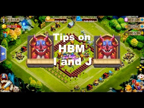 Castle Clash Tips On HBM I And J! Also Secret CONTEST