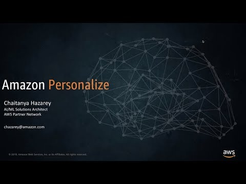 AWS Partner Webinar: Building Integrations with Amazon Personalize