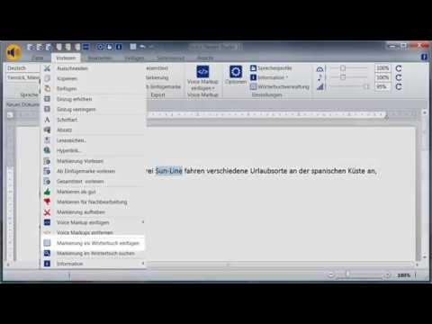 Workshop Linguatec TTS Voice Reader Studio 15 Deutsch - Arbeiten mit der textuellen Umschreibung
