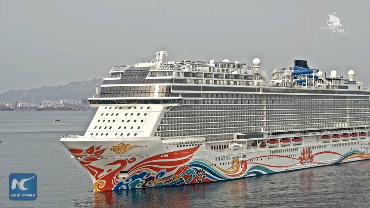 Aerial View Asias Largest Cruise Ship YouTube - Chinese cruise ship