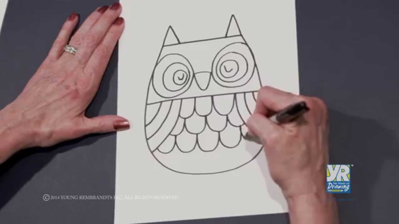 Teaching Kids How to Draw How to Draw an Owl   Young Rembrandts ...
