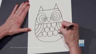 Teaching Kids How to Draw: How to Draw an Owl