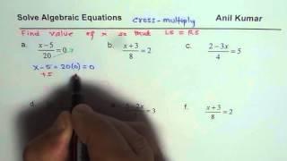 Solve Ratio Algebraic Equątion with Cross Multiplication