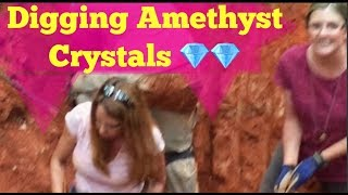 "Digging for Amethyst Gem Crystal Treasures at Phantom Ridge ""The Crystal Collector"""