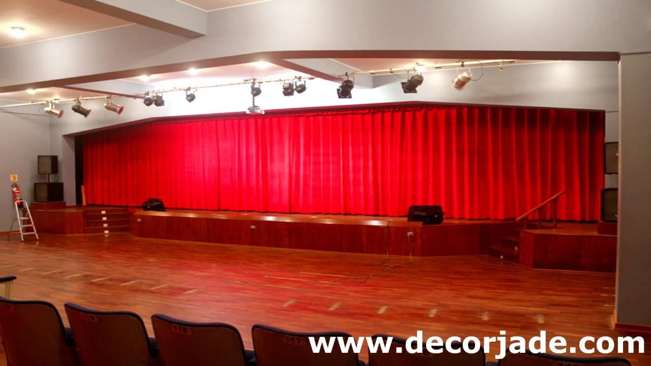 Cortinas para Teatros  Teln Motorizado para Auditorios