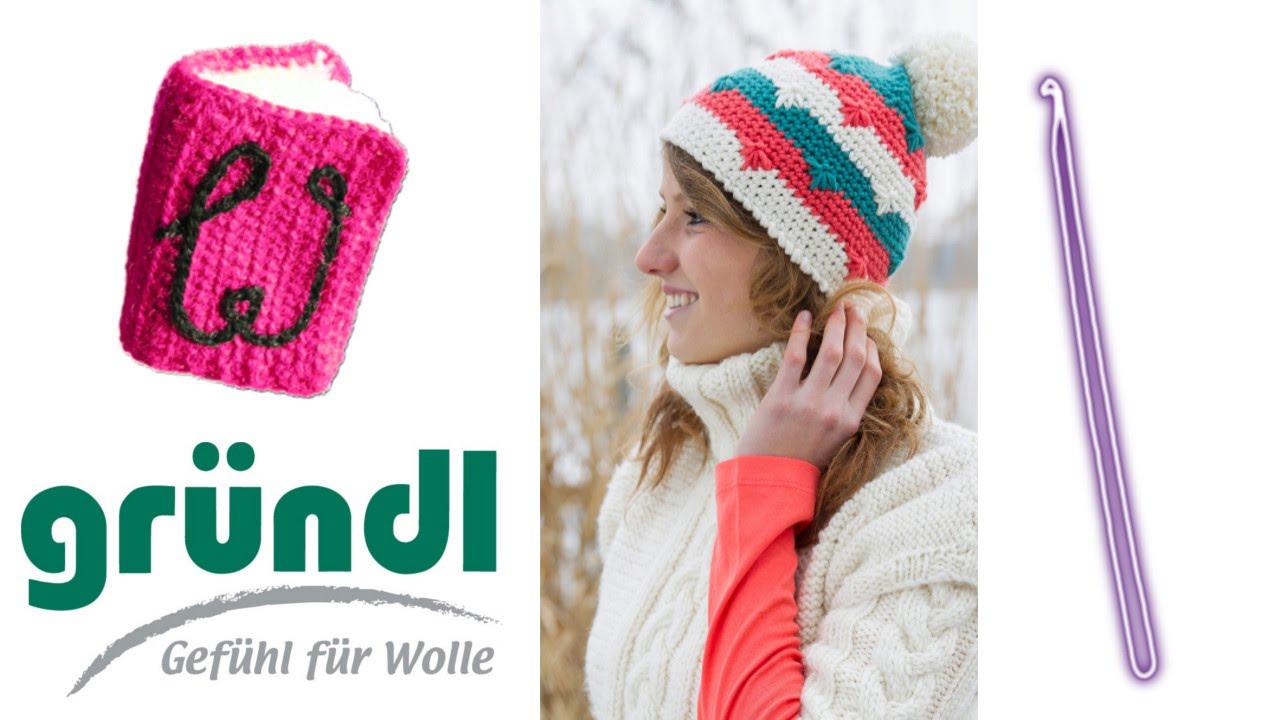 Snowflake hat crochet pattern part 1 by Gründl - © Woolpedia - YouTube