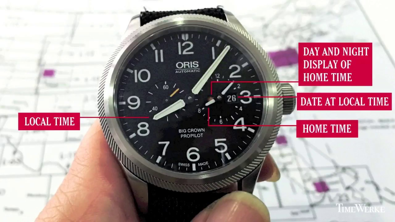 Oris Big Crown Propilot Worldtimer - How it Works   Review - YouTube 992860ba88a