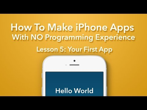 How To Make an App - Ep 5 - Your First Swift App