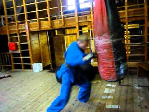 Кудо. Работа руками на мешке. Николаевск-на-Амуре