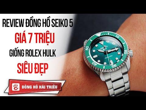 Review đồng Hồ Seiko 5 Giá 7 Triệu Giống Rolex Hulk Cực đẹp