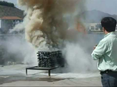 Extinguishing test 6kg ABC Powder