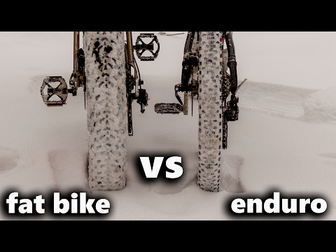 fat bike VS enduro bike (test drive)